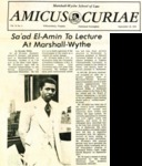 Sa'ad El-Amin to Lecture at Marshall-Wythe