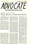 Being Black at Marshall-Wythe: Students Air Their Views by Barbara Johnson and Alotha Willis