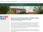 Black Law Students Association at William & Mary Named National Chapter of the Year