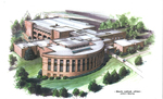 Architectural Rendering of the Law School's North Wing circa 2002 by Ballou Justice Upton