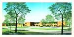 Architectural Rendering of the Law School circa 1976 by Wright Jones & Wilkerson