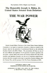 The War Power by Institute of Bill of Rights Law at The College of William & Mary School of Law