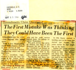 Massachusetts Claim Questioned: The First Mistake Was Thinking They Could Have Been The First