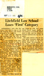 Litchfield Law School Loses 'First' Category