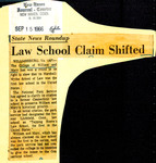 State News Roundup: Law School Claim Shifted