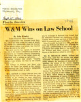 First in America: W&M Wins on Law School by John Kinnier