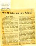 First in America: W&M Wins on Law School