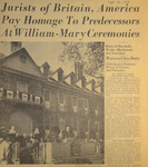 Jurists of Britain, America Pay Homage To Predecessors At William-Mary Ceremonies