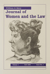 William & Mary Journal of Women and the Law Volume 1, Issue 1