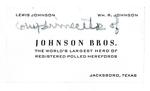 Johnson Bros. Business Card