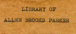 Library of Allen Brooks Parker