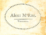 Alex: M'Rae. Virginia