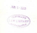 Cleveland Law Library Association. Jun 5- 1903