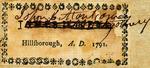 John B. Montgomery, Attorney; Hillsborough, A.D. 1791.