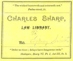 Charles Sharp Law Library, to Sydney Smith