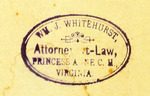 Wm. J. Whitehurst, Attorney-at-Law, Princess Anne C. M., Virginia