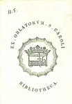 Ex Oblatorum S Caroli Bibliotheca. Humilifal