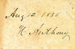 Aug 12 1836 H Anthony
