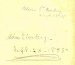 Alvin T. Ewbrey - Sept. 20, 1895