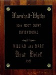 Marshall-Wythe 10th Moot Court Invitational: Best Brief