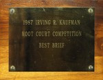 Irving R. Kaufman Moot Court Competition: Best Brief