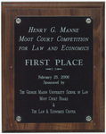 Henry G. Manne Moot Court Competition for Law and Economics: First Place