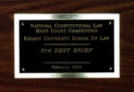 National Constitutional Law Moot Court Competition: 5th Best Brief