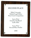 Duke University Medical Legal Ethics Moot Court Competition: Second Place