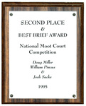National Moot Court Competition: Second Place & Best Brief Award