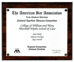 The American Bar Association Law Student Division National Appellate Advocacy Competition: National Finalists