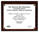 The American Bar Association Law Student Division National Appellate Advocacy Competition: First Place