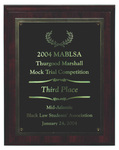 2004 MABSLA Thurgood Marshall Mock Trial Competition: Third Place