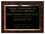 National Constitutional Law Moot Court Competition: Runner-Up