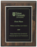 Tulane Mardi Gras Invitational National Sports Law Tournament: First Place