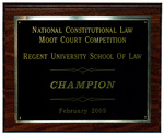 National Constitutional Law Moot Court Competition: Champion