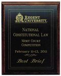 National Constitutional Law Moot Court Competition: Best Brief