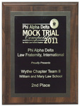 Phi Alpha Delta Mock Trial Competition: 2nd Place