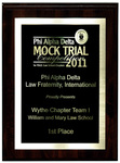 Phi Alpha Delta Mock Trial Competition: 1st Place