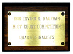 Irving R. Kaufman Securities Law Moot Court Competition: Quarterfinalists