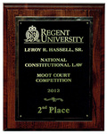 Leroy R. Hassell, Sr. National Constitutional Law Moot Court Competition: 2nd Place