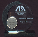 American Bar Association, Law Student Division, Negotiation Competition: Regional Champion