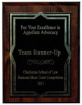 Charleston School of Law, National Moot Court Competition: Team Runner-Up