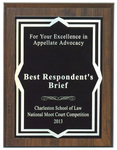 Charleston School of Law, National Moot Court Competition: Best Respondent's Brief