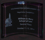 Southwestern Entertainment Law Negotiation Competition: Second Place