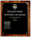 William & Mary Business Law Review: Oustanding Member Award