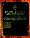 Special Education Advocacy Award