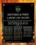 Kruchko & Fries Labor Law Award