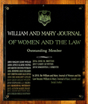 William & Mary Journal of Women and the Law Outstanding Member
