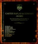 Carter Kaplan & Company Award