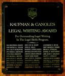 Kaufman & Canoles Legal Writing Award